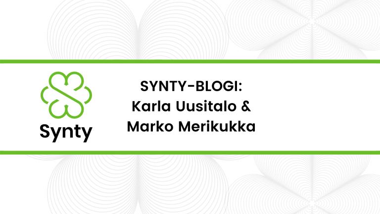 Synty-blogin banneri, kirjoittajat mainittu