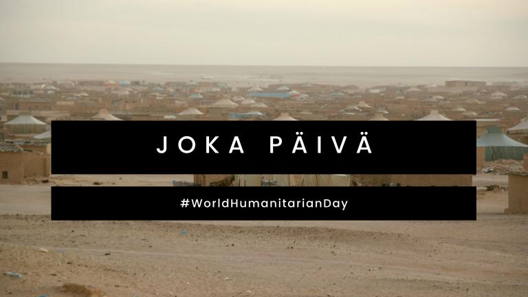Maailman humanitaarisen päivän tunnuskuva.