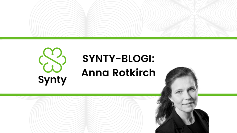 Synty blogin banneri.